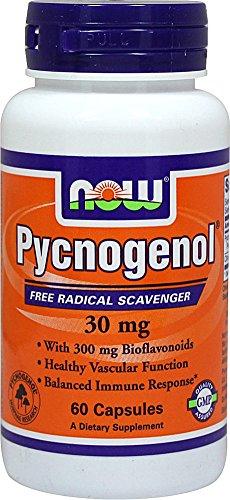 AHORA alimentos Pycnogenol 30 mg con bioflavonoides 300 mg-60 cápsulas