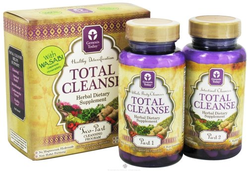 Total Cleanse KIT por Génesis hoy - programa de limpieza de desintoxicación del cuerpo parte 2 fórmula Natural Herbal Colon hígado Dr. Duncan ~ 120 Caps Total