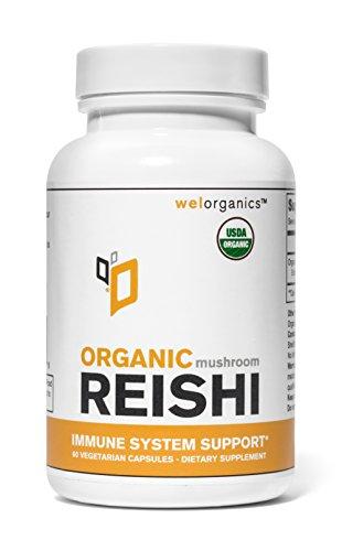 USDA certificado orgánico seta de Reishi extracto (cápsulas vegetarianas)