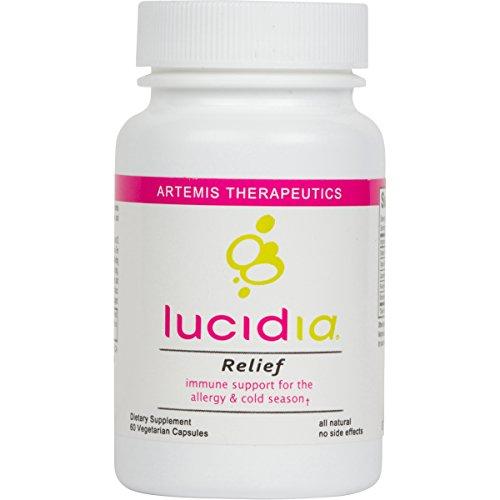 Mejor medicina para la alergia con quercitina, ortiga orgánica, bromelina, seta de Reishi orgánico y N-acetilcisteína. Antihistamínico natural y fórmula de apoyo inmune. Lucidia