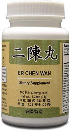 Er Chen Wan suplemento herbario ayuda para la función bronquial, sistema respiratorio 350mg 100 pastillas Made In USA