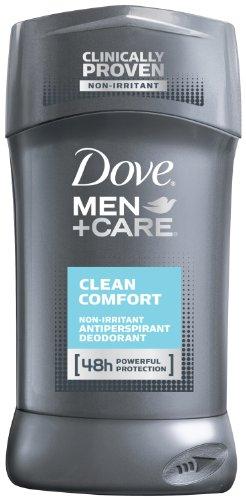 Dove Men + Care antitranspirante desodorante, limpia comodidad 2,7 onzas (paquete de 3)