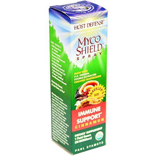 Host Defense® MycoShield® aerosol, apoyo inmune, canela 1 oz