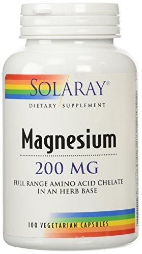 Solaray magnesio, suplemento de la AAC, 200 mg, 100 cuenta