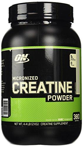 La nutrición óptima micronizado de creatina en polvo sin sabor - 2000 g (4,4 libras)