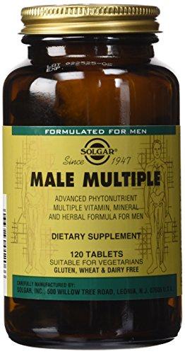 Solgar masculinos múltiples tabletas, cuenta 120