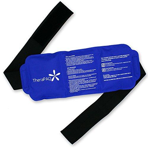 """Flexible Pack de hielo con el abrigo para terapia caliente y fría - Pack de Gel reutilizable para aliviar el dolor: ideal para la espalda, cintura, hombro, cuello, tobillo, pantorrillas y cadera (gran tamaño abrigo-tamaño: 14 """"X 6"""")"""