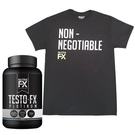 Estimulador de la testosterona para hombres - Con Gildan Camiseta Negro XL - All Natural potente suplemento de mejora masculino