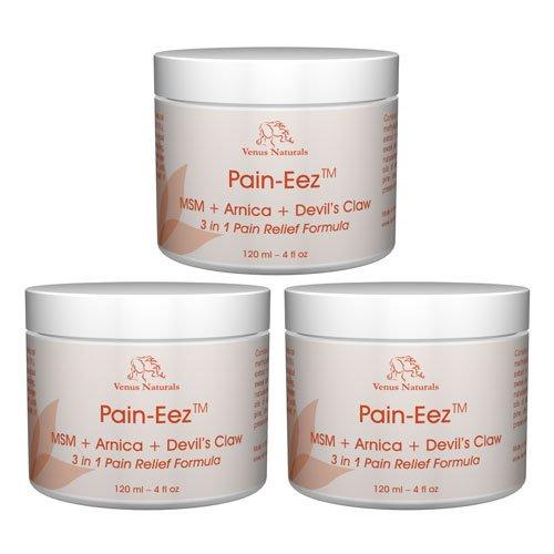 Dolor-Zee todo el alivio de dolor Natural crema con MSM, árnica y Harpagofito, frascos de 3-4oz, mejor valor