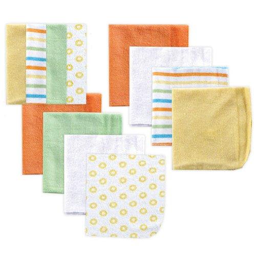 Paños de amigos Luvable, amarillo, paquete de 12