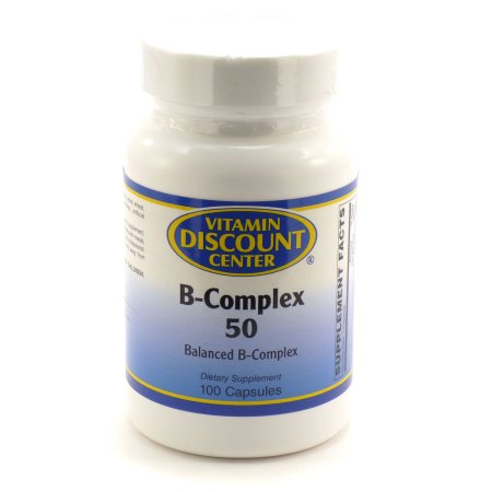 B-Complex 50 Por Vitamin Discount Center 100 cápsulas de vitamina B