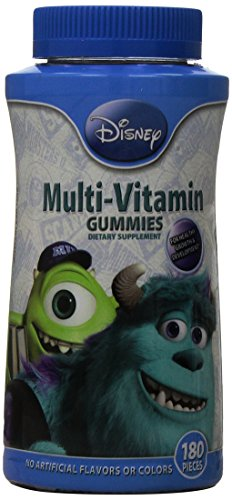 Universidad de monstruos de Disney completa multi-vitamina gomitas, cuenta 180