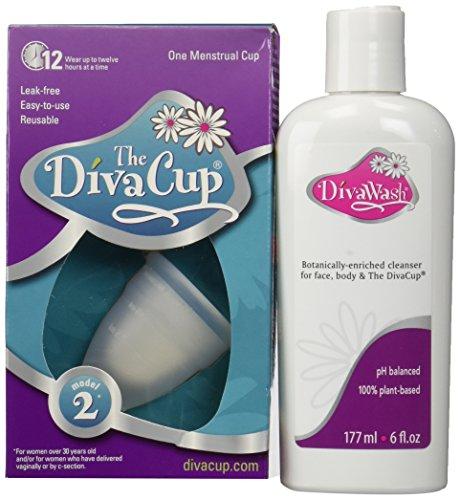 Divawash y diva modelo 2 taza Menstrual solución