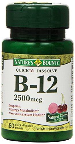 Recompensa 2500mcg de vitamina B-12, Sublingual de la naturaleza, 50 comprimidos (paquete de 3)