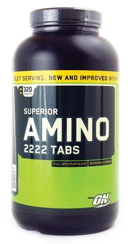 La nutrición óptima Superior Amino 2222 tabletas, cuenta 320