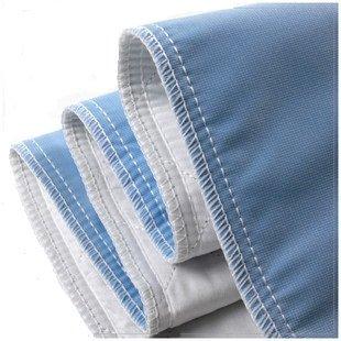 """Empapador de cama reutilizable - máquina lavable y Dryable, impermeable, no absorbente, Personal de atención y Hospital clasificado debajo de la almohadilla (34 """"x 38"""" azul)"""