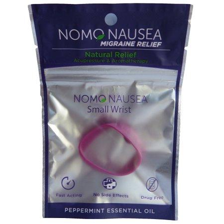 NoMo Nausea migraña Pequeño púrpura aromaterapia contra la migraña banda con la acupresión
