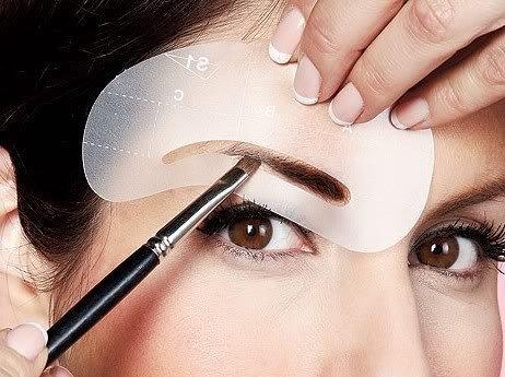 Ceja ceja 4 formar sombra Durable reutilizable plantillas Grooming Kit maquillaje plantilla AOSTEK(TM)