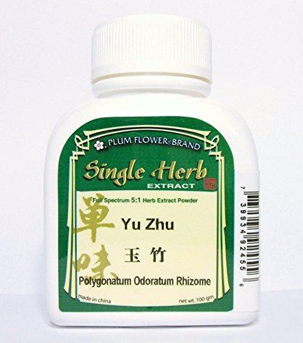 Polvo del extracto de hierba de raíz perfumada Salomón de sello / Yu Zhu / Polygonatum Odoratum, 100g o 3.5oz