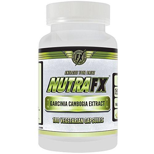 Nutrafx Garcinia Cambogia mejor Control apetito pérdida de peso píldoras para hombres mujeres y niños obesos ayuda a suprimir el apetito y satisfacer antojos, fuerza adicional 1500mg 60% HCA (Vegi 180 Caps)