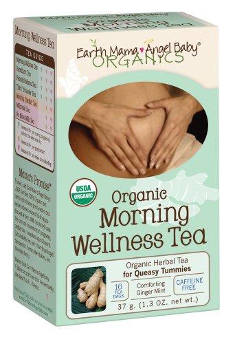 Tierra Mama Angel bebé mañana bienestar té orgánico, 16 bolsitas de té