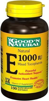 Buena y Natural - Natural vitamina E mezcla de tocoferoles 1000 UI - 100 cápsulas