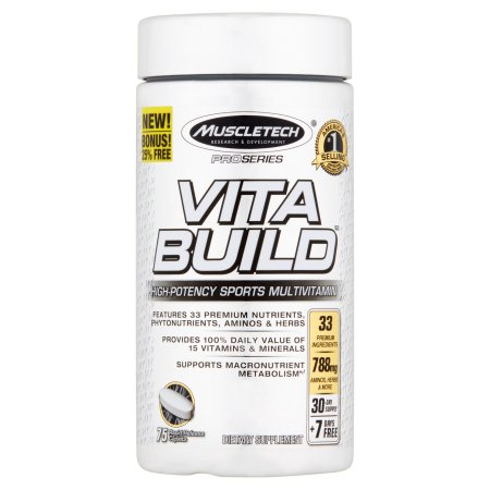 MuscleTech Serie Pro Vita Construir alta potencia Deportes suplemento multivitamínico dietética 75 conteo