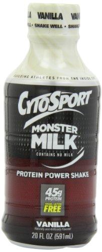 CytoSport Monster batido listo para tomar proteína energía, vainilla, 20 onzas, paquete de 12