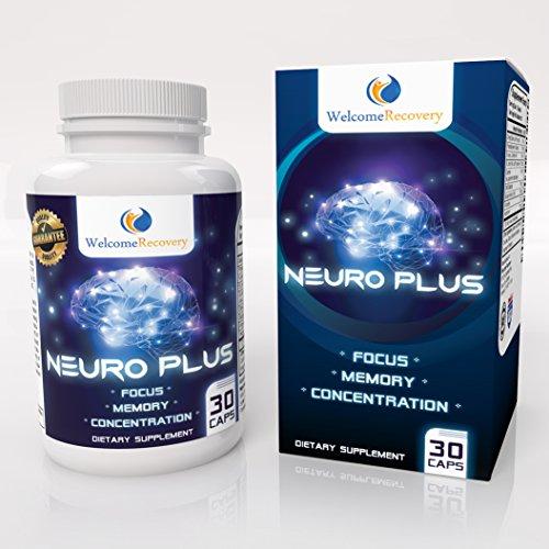 Plus de neuro cerebro suplemento Nootrópicos - aumenta la memoria, atención y concentración - mejora estado de ánimo - diseñado para hombres y mujeres - promueve la claridad de mente y la función cerebral Superior - 30 cápsulas