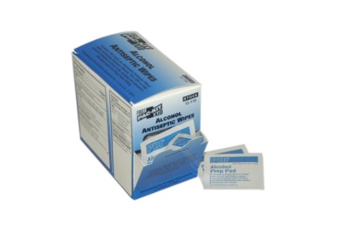PAC-Kit de primeros auxilios sólo 12-110 empapado en Alcohol antiséptico (caja 100)