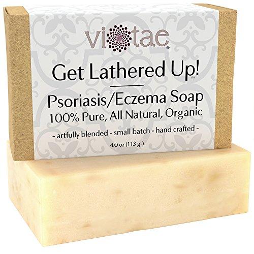 Jabón orgánico de PSORIASIS-ECCEMA - certificado Vi-Tae ®-100% puro, Natural, jabón de aromaterapia Herbal barra - 4oz