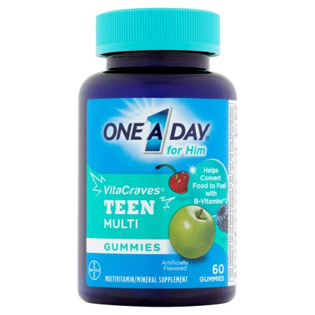 One A Day VitaCraves adolescente por lo multivitaminas - minerales Gummies Supplement 60 ct