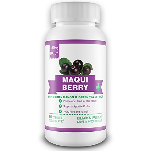 100% puro Maqui Berry extracto suplemento - suministro de 1 mes - 150mg al día