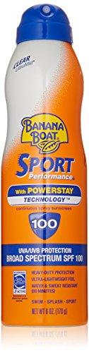 Banana barco bloqueador UltraMist Sport rendimiento amplio espectro solar protector solar Spray - SPF 100, 6 onzas