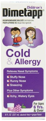 De los niños Dimetapp líquido, frío y alergia, 8 onzas (paquete de 2)