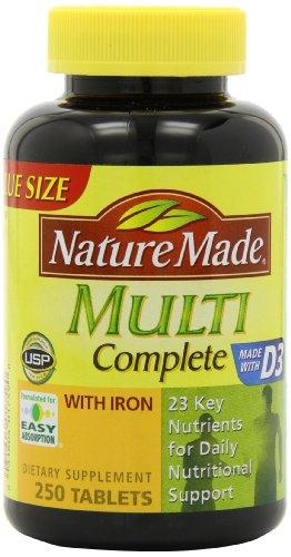Naturaleza completa, Multi vitaminas y minerales, 250 tabletas (paquete de 3)