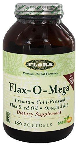 Flora-mega de lino o aceite de linaza 180 cápsulas