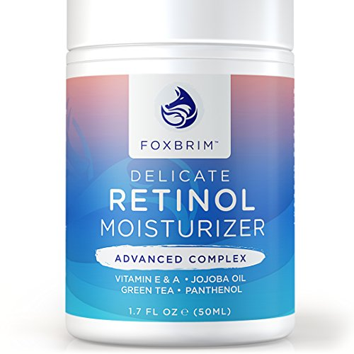 Premium Retinol crema facial y crema hidratante - complejo avanzado - probado Retinol en una formulación delicada - Anti envejecimiento para borrar las arrugas, líneas finas y más - resultados asombrosos, menos tiempo - Foxbrim 1.7OZ
