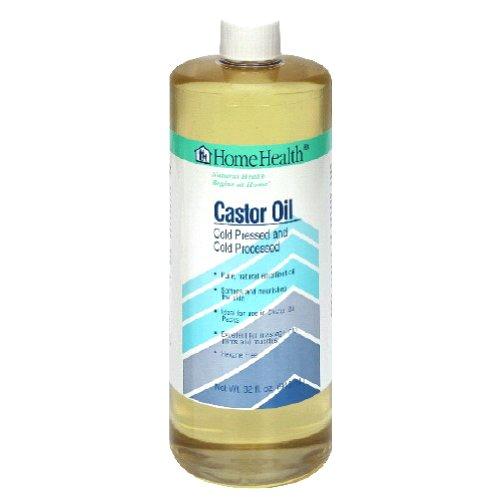 Salud en el hogar aceite de ricino, prensados en frío y frío procesado, 32 onzas
