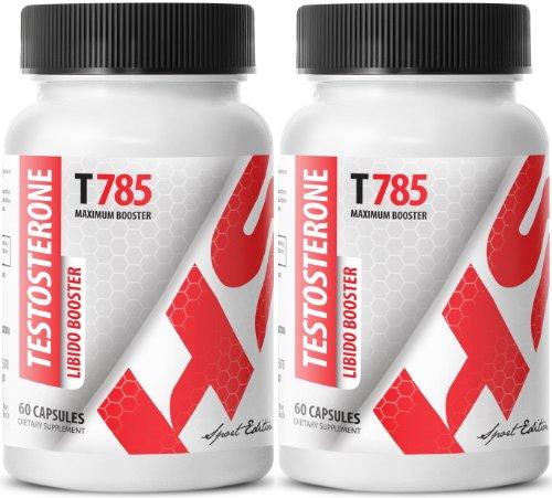 La testosterona Libido Booster T785. Fórmula del realce masculino. Máximo recto (2 botellas, 120 tabletas)