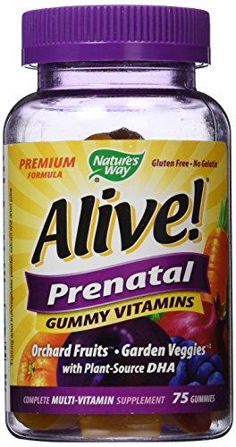 Manera de la naturaleza, viva! Caramelo gomoso prenatal, 75 gomitas