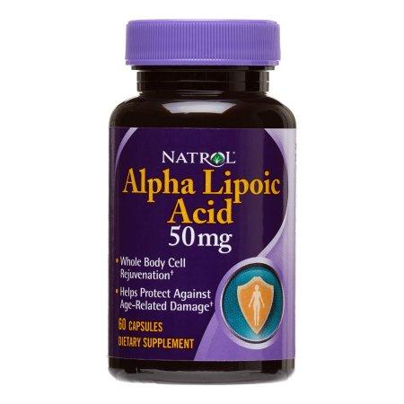 Natrol 50 mg ácido alfa lipoico 60 Ct