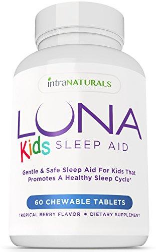 LUNA de los cabritos (60 Tabs) - inductor del sueño Natural #1 para los niños adultos 4 + y sensibles - Píldora herbaria, suave y seguro para dormir (hecha con melatonina, valeriana, manzanilla, bálsamo de limón y más) - garantía de por vida