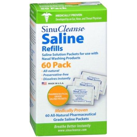 SinuCleanse salinos recargas de 60 paquetes 60 cada uno (paquete de 3)