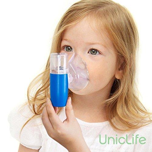 Uniclife recargable Mini USB inhalador / humidificador ultrasónico portátil de bolsillo para niños adultos