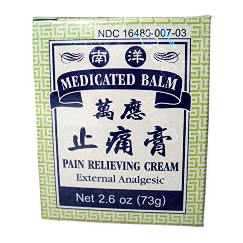 Bálsamo medicinal - crema - analgésico externo (2,6 onzas - 73g.) de alivio del dolor (Producto de naturaleza internacional genuina nutracéuticos) - 1 frasco