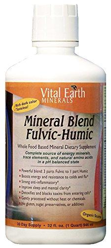 Tierra vital minerales mezcla minerales fúlvicos-húmicos, 32 onzas de líquido