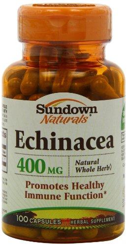Sundown Naturals equinácea toda hierba 400mg cápsulas - ct 100 botellas (paquete de 2)
