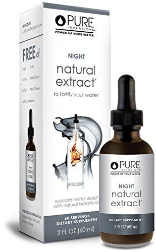 Puros inventos - fórmulas especiales - la noche (sueño reparador) - potenciador - (60 porciones) de agua 2 Oz
