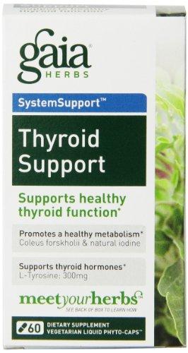 Gaia hierbas tiroides soporte líquido Fito-cápsulas, cuenta 60